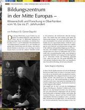 Bildungszentrum in der Mitte Europas – Wissenschaft und Forschung in Oberfranken: ECHT Oberfranken - Ausgabe 25
