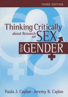 Thinking Critically about Research on Sex and Gender PDF