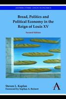 Bread  Politics and Political Economy in the Reign of Louis XV PDF
