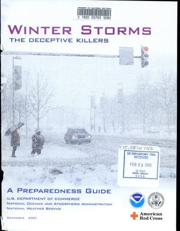 Winter Storms  the Deceptive Killers PDF