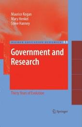 Government and Research: Thirty Years of Evolution