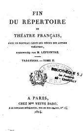 Fin du répertoire du théâtre français