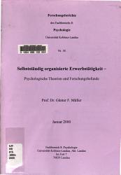 Selbstst  ndig organisierte Erwerbst  tigkeit PDF