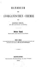 Handbuch der anorganischen Chemie: Volume 3