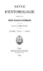 Revue d'entomologie: Volume8