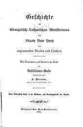 Geschichte des Evangelisch-Lutherischen Ministeriums vom Staate New York und angrenzenden Staaten und Ländern