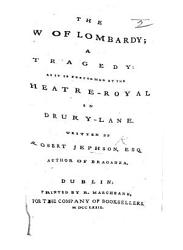 The Law Of Lombardy A Tragedy In Five Acts And In Verse Etc Book PDF