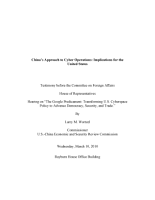 China   s Approach to Cyber Operations  Implications for the United States  Congressional Testimony PDF