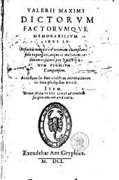 Dictorum Factorumque Memorabilium Libri IX, repurgati per Stephanum Pighium. Item Breves Notae Justi Lipsii...