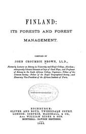Finland: Its Forests and Forest Management