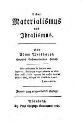 Über Materialismus und Idealismus