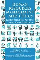 Human Resources Management and Ethics PDF