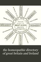 The Hom  opathic medical directory of Great Britain and Ireland PDF