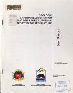 Geologic Carbon Sequestration Strategies for California