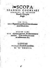 Scopa Ioannis Cochlaei ... In Araneas Ricardi Morysini ...