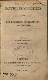 Cantiques chrétiens pour les dévotions domestiques