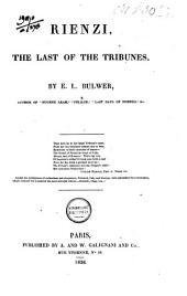 Rienzi, the Last of the Tribunes