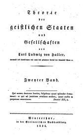 Theorie der geistlichen Staaten und Gesellschaften: Band 2