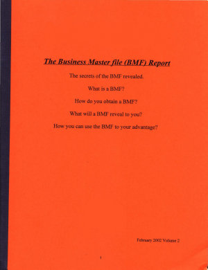 Business Master File  BMF  Report  Form  09 054 PDF