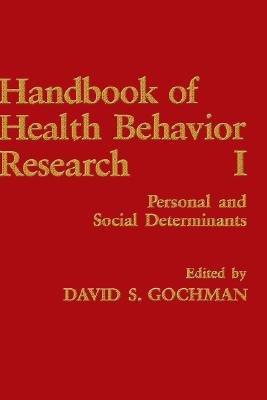 Handbook of Health Behavior Research I PDF