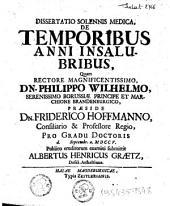Dissertatio solennis medica, De temporibus anni insalubribus