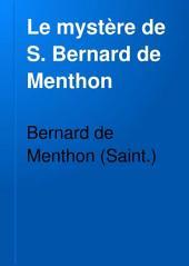 Le mystère de S. Bernard de Menthon: Numéro25