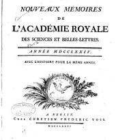 Nouveaux mémoires de l'Academie royale des sciences et belles-lettres: Année MDCCLXX [-MDCCLXXXVI], Volume5