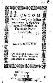 Hecatomphile: ensemble les fleurs de poesie françoise