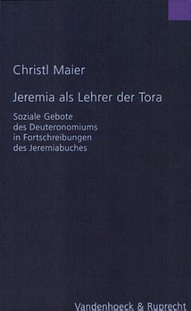 Jeremia als Lehrer der Tora PDF