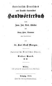 Lateinisch-deutsches und deutsch-lateinisches handwörterbuch