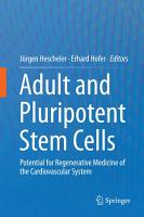 Adult and Pluripotent Stem Cells PDF