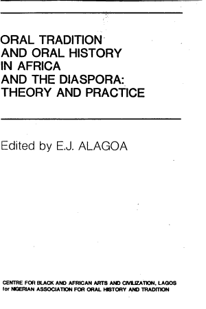 Oral Tradition and Oral History in Africa and the Diaspora PDF