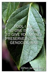 Fool I Am No One Is Going To Give You Money Preserved During Genocide War1 Book PDF
