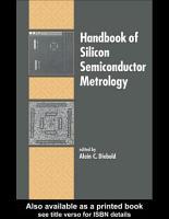 Handbook of Silicon Semiconductor Metrology PDF