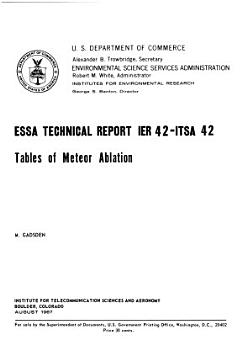 Tables of Meteor Ablation PDF