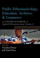 Public Ethnomusicology  Education  Archives    Commerce PDF