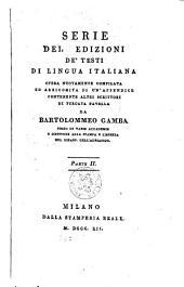 Serie dell' edizioni de' testi di lingua italiana: Volume 2