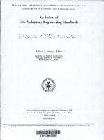 An Index of U S  Voluntary Engineering Standards PDF