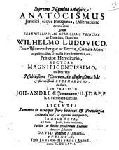 Anatocismus iuridica, eaque inaugurali, dissertatione delineatus