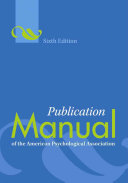 Publication Manual of the American Psychological Association Book
