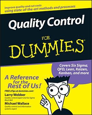 Quality Control for Dummies PDF