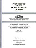 Initial Reports of the Proceedings of the Ocean Drilling Program PDF