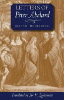Letters of Peter Abelard  Beyond the Personal PDF