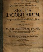 Dissertatio Historica De Secta Jacobitarum