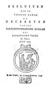 Besluiten van de Tweede Kamer en decreeten van het Vertegenwoordigend Lichaam des Bataafschen Volks: Volume 3