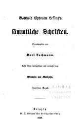 Gotthold Ephraim Lessing's S Mmtliche Schriften: Band 5