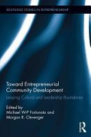Toward Entrepreneurial Community Development PDF