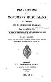 Notions préliminaires sur les pierres gravées Arabes, Persanes et Turques, les Vases, Coupes, Miroirs (etc.): Volume1