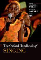 The Oxford Handbook of Singing PDF