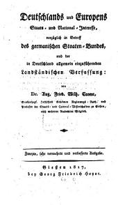 Deutschland und Europens Staats- und National-Interesse